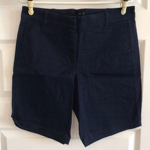 J Crew navy Bermuda shorts size 10